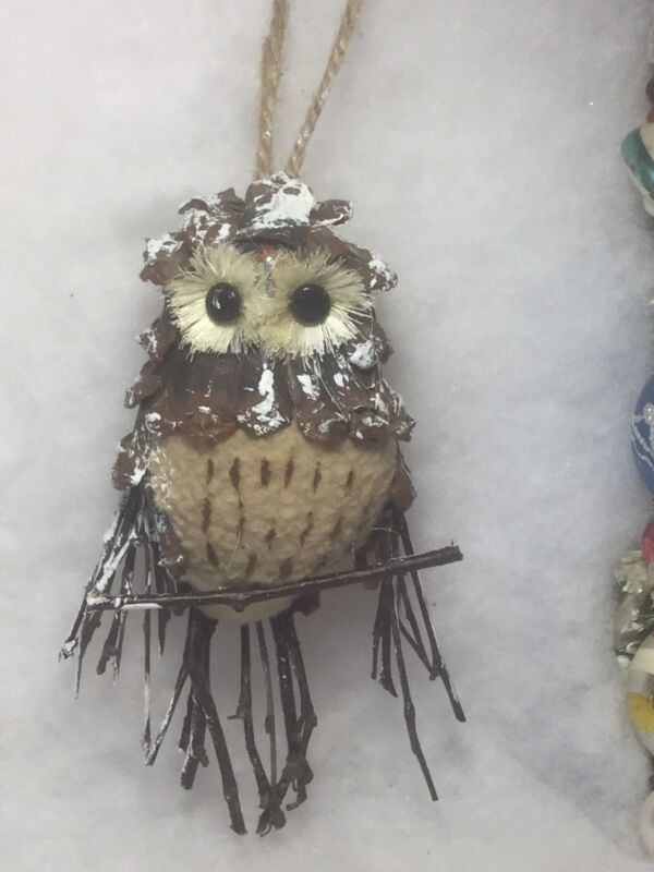 Pinecone Owl Christmas tree Ornament