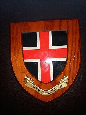 Vintage City Of Durham Wooden Plaque
