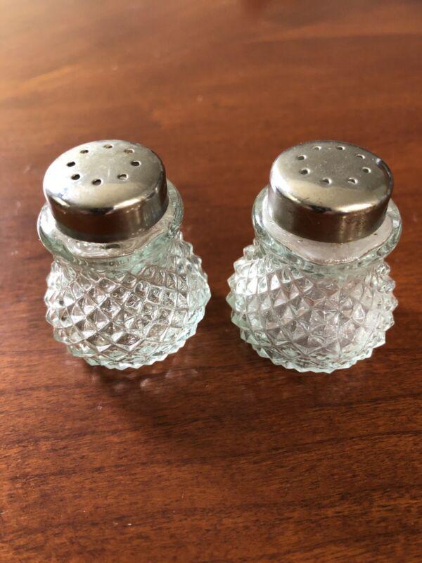 "Vintage Miniature Crystal Salt & Pepper Shakers  ""Grace"""