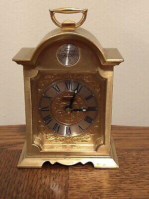 Tempus Fugit Brass Antique Small Alarm Clock