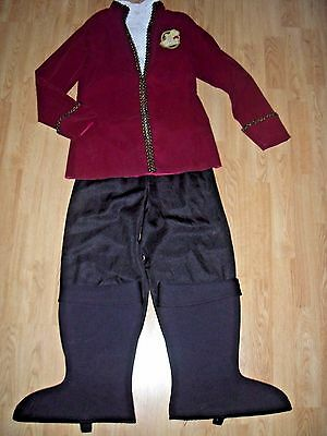 Disney Store CAPTAIN HOOK Boys COSTUME 10/12 Pirate HALLOWEEN Dress Up