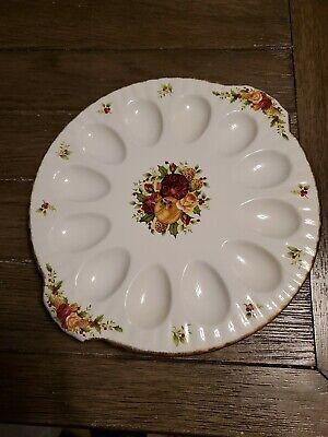 Royal Albert Old Country Roses HOLIDAY CHRISTMAS Egg Plate Platter 12 1/2