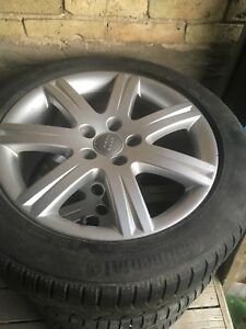 Audi/Volkswagen - 4 Rims with Winter Tires