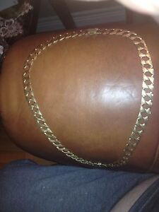 30 inch diamond cut 10 k gold chain