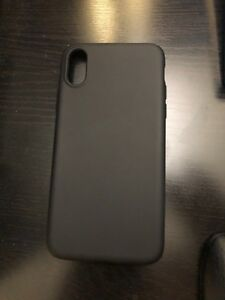 iPhone X/XS silicon case Black