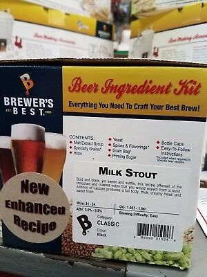 Milk Stout by Brewers Best 5 Gallon Beer Ingredient Kit Home Brewing Kit (Best Home Brew Stout)