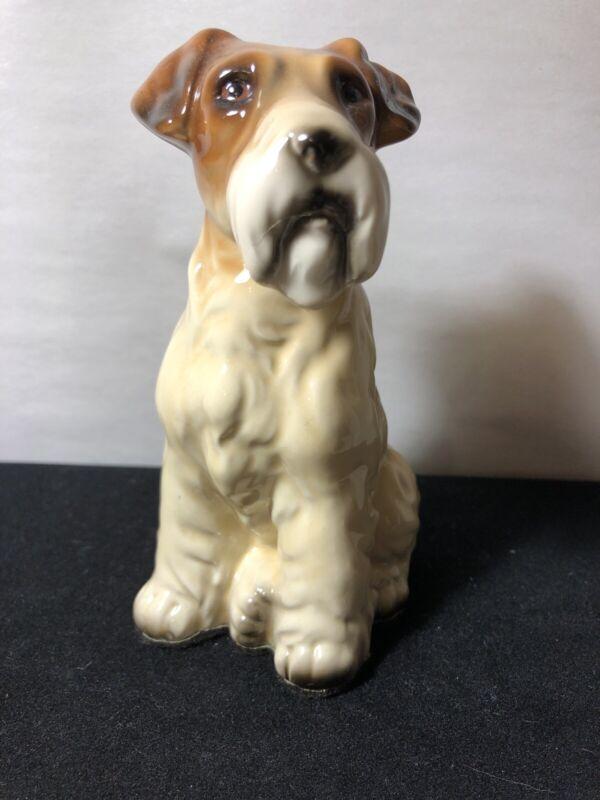 Vintage PORCELAIN LARGE Dog Figure