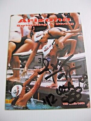 1997 NCAA ARIZONA SWIMMING & DIVING MG ASHLEY TAPPIN OLYMPIC GOLD MEDAL - SIGNED ()