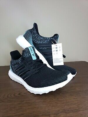 Adidas Ultra Boost Parley Men's Sz 9 Comfort Best Running Shoes Black New (Best Rubber Shoes For Men)