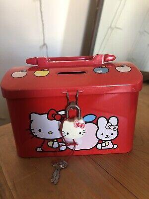 Hello Kitty Tin Money Box