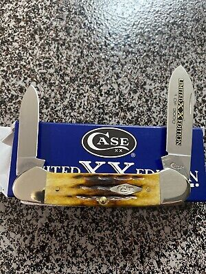 Case XX Cutlery Canoe Pocket Knife Stainless Steel Blade Honeycomb Bone Handle