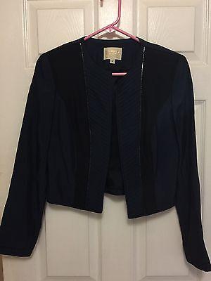 Alberto Makali Navy Black Jacket Size 2