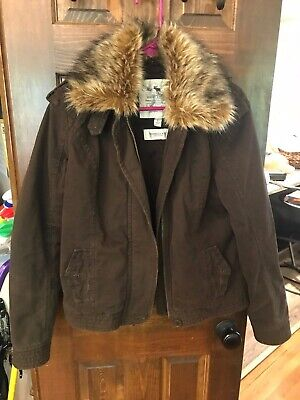 Abercrombie & Fitch Brown coat thinsulate insulation large