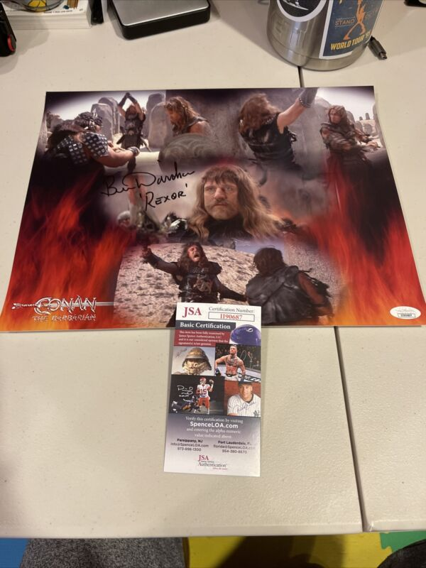 Autographed Ben Davidson Signed 11x14 Photo Conan The Barbarian Jsa Coa