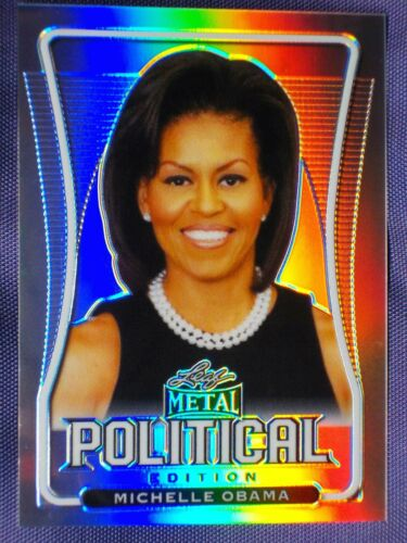 Michelle Obama ~ SILVER Political rainbow Prism #/ 50 ! Leaf Metal 2020 Politics