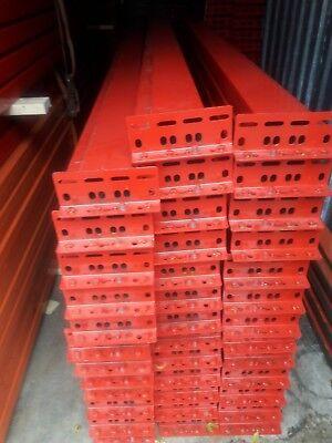 Pallet Rack Racking Shelving Racks Warehouse Teardrop New Beams 12x7 Rails