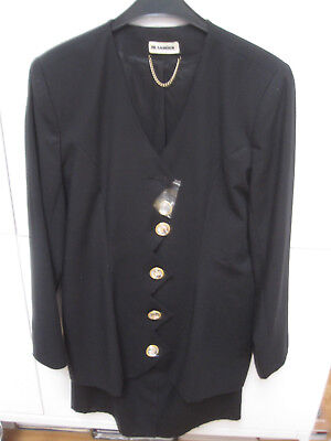 Jil Sander - festliches Kostüm - schwarz - Gr. 34/ evtl. 36 - Vintage 80er - 80er Jahre Vintage Kostüm