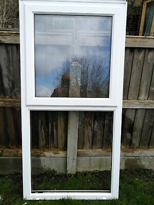 Used upvc double glazed white window