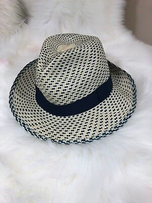 NEW J CREW - Panama hat in two-tone Size L-XL (Please see the pictures)