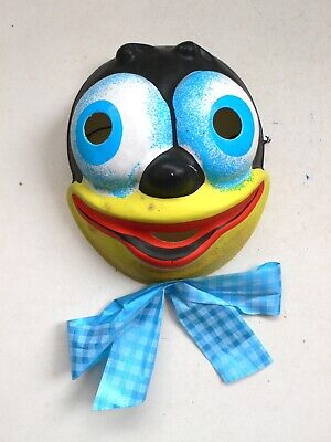 Vintage Halloween Mask FELIX THE CAT Bimbo the Dog Betty Boop serie 1960's Italy](Felix The Cat Halloween Mask)