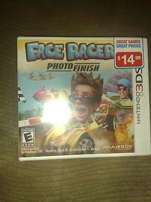 Face Racers: Photo Finish (Nintendo 3DS, 2011) - Brand New & Sealed (Nintendo 3ds Face Racers)