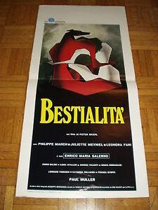 Bestialita-Salerno-Staller-Locandina-originale-italiana-1976-cm-35x70-Rara