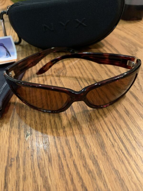 Nyx Golf Sunglasses Style 26110 Tortoise Shell Blaze Style With Case