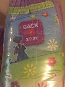 Diapers 2T-3T girls.  Approximately 62.