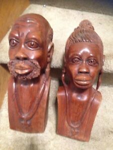 Wooden statuettes from Africa very unique $30 no pet smoke Oshaw