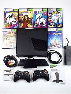 Used, Microsoft Xbox 360 System Console Kinect Bundle 4GB Controllers, Cables, Games  for sale  Shipping to Nigeria