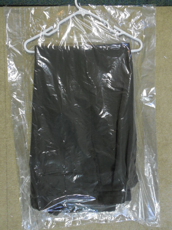 """Lot of 15 DRY CLEANER POLY GARMENT GUSSETED PLASTIC BAGS. 21"""" x 4"""" x 30"""" Pants"""