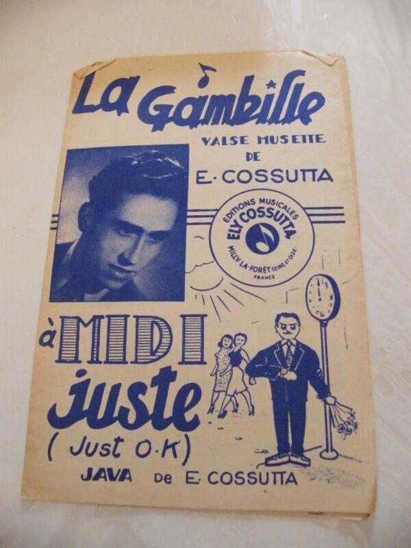 Partitur der Gabille Valse Musette E Cossutta A Midi Gerade