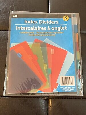 Jot Plastic 3-ring Binder Index Dividers With Tabs Mixed Colors 1 Pack