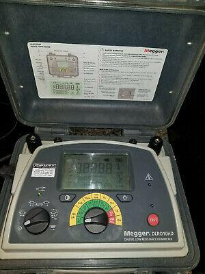 Megger Dlro10hd Enhanced Features 10 Amp Digital Low Resistance Ohmmeter