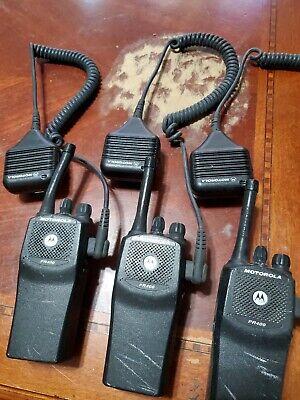 Lot Of 3 Motorola Radio Pr400 Model Aah65sdc9aa2an