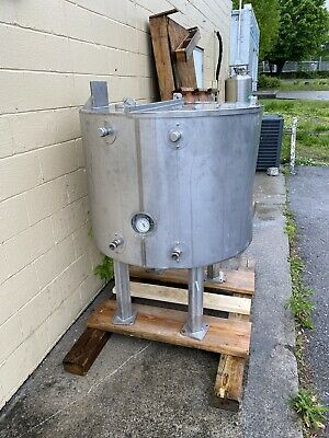 200 Gallon Stainless Steel Mixing Tank Mash Tun Jacketed