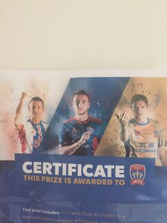 1xFamily pass (4xTickets) to see Newcastle Jets