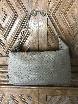 Authentic BOTTEGA VENETA Intreccia Leather Handbag, Never Worn, Taupe