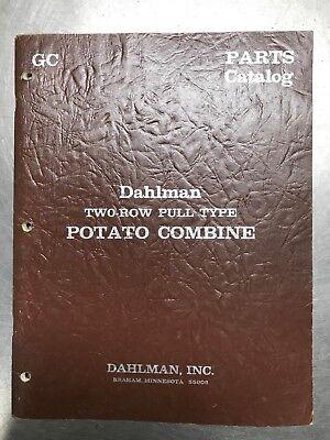 Dahlman Two Row Pull Type Potato Combine Parts Catalog Manual