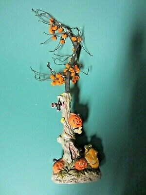 Avon Halloween Tree (Porcelain Halloween Spooky Tree With Pumpkins And Bat)