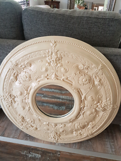 Ceiling rose mirror