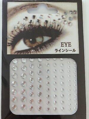 new Acrylic Crystal Gems Bling Beads Eye Face Stickers Makeup Rhinestones Tattoo (Crystal Rhinestones Face Bling)