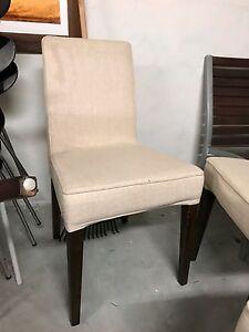 10!Linen Dinnnig chairs Mosman Mosman Area Preview