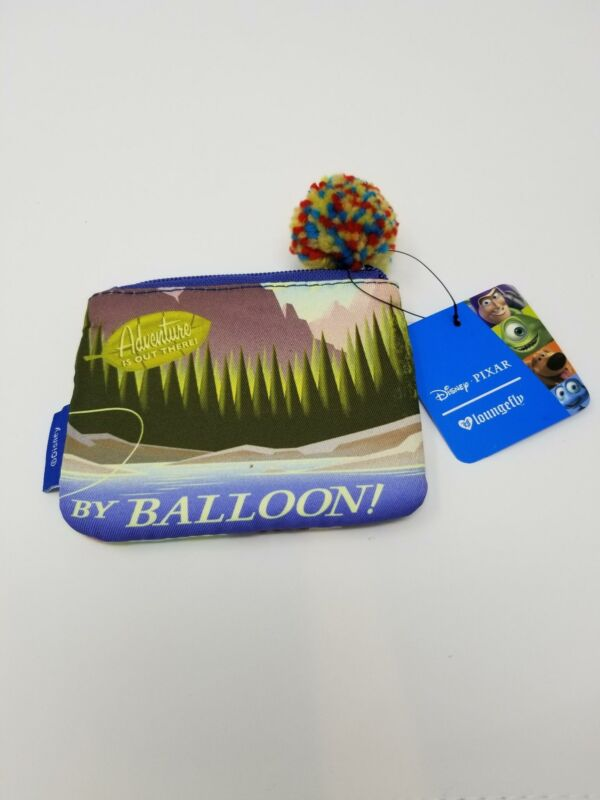 Loungefly x Disney Up! Balloon See The World Zip Coin Purse Cardholder Pouch NWT