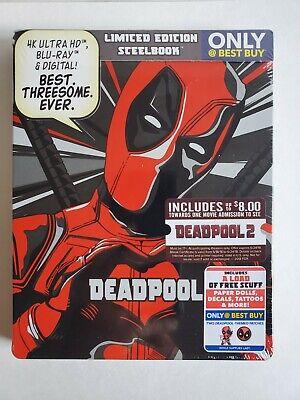 DEADPOOL STEELBOOK W/ PATCHES (4K UHD + Blu-Ray + Digital) 2 Year Anniversary