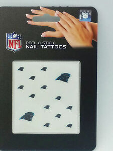 Carolina panthers peel stick nail tattoos ebay for Carolina panthers tattoos