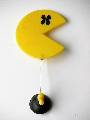 1982 Midway Pac-Man Window Waver w/Suction Cup - Vintage Arcade Video Game