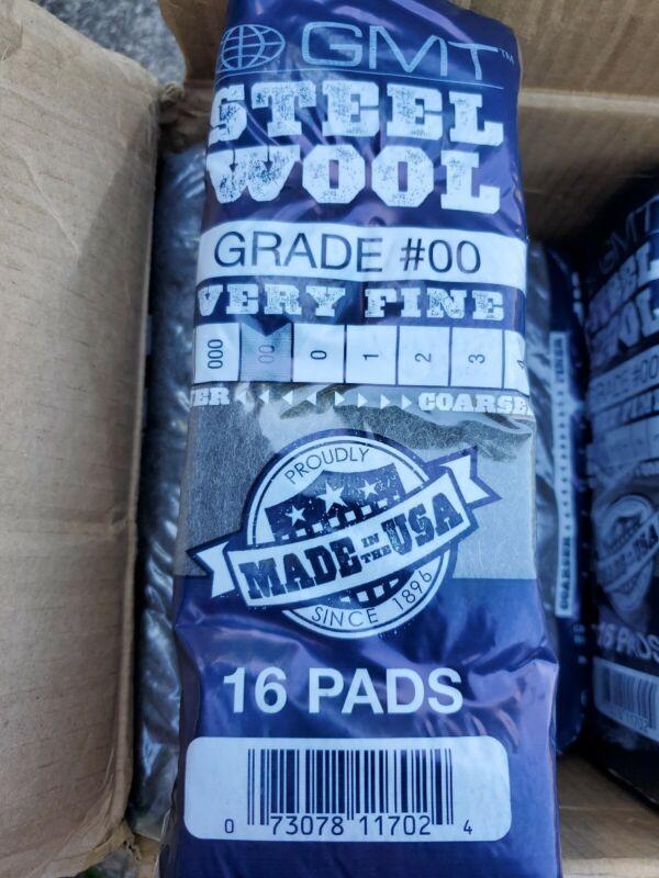 16 pack - GMT brand (1 Bag) (16 Pads)  #0000 (0000) SUPER FINE Steel Wool
