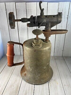 Vintage Turner Brass Blow Torch Antique Sycamore ILL