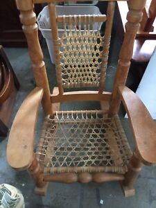 Large maple rocking chair